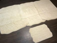 ROMANY WASHABLES NEW DESIGNS SETS OF 4 MATS XLARGE SIZES 100X140CM CREAM/IVORY